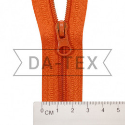 18 cm Nylon zipper N.4 orange