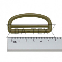 50 mm Plastic semi ring khaki