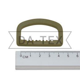 38 mm Plastic semi ring khaki