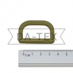 30 mm Plastic semi ring khaki