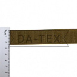 25 mm Hook tape 100% PE khaki