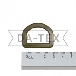 25 mm Plastic semi ring khaki
