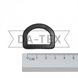 25 mm Plastic semi ring black