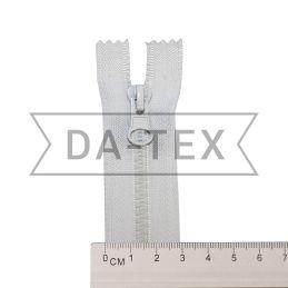 16 cm Plastic zipper N.5 white