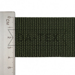 40 mm PP tape 24 g/m khaki