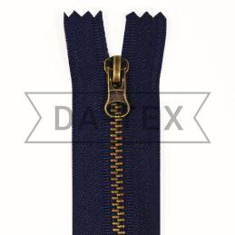 18 cm Metal zipper N.4 antik