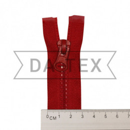 75 cm Plastic zipper N.5 red
