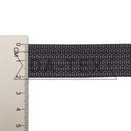 20 mm PP tape 10 g/m dark grey