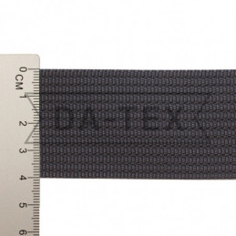 40 mm PP tape 18 g/m dark grey