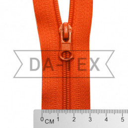 80 cm Nylon zipper N.5 orange