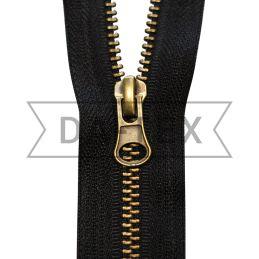 65 cm Metal zipper N.5 antik