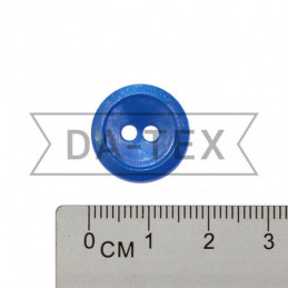 17 mm Button electric blue