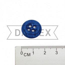 17 mm Button bright blue