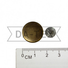 17 mm Jeans button antik