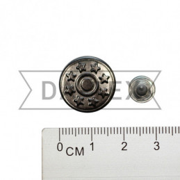 17 mm Jeans button black...