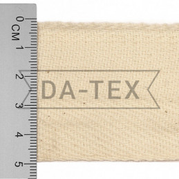 50 mm Cotton tape unbleached