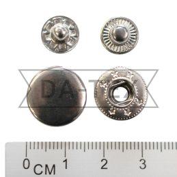 15 мм кнопка АЛЬФА цвет никель