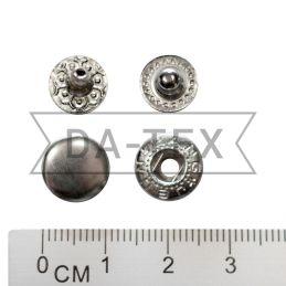 10 мм кнопка АЛЬФА цвет никель