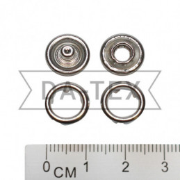 9,5 mm snap ring button nikel