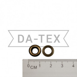 6 mm Eyelet N.4 + washer antik