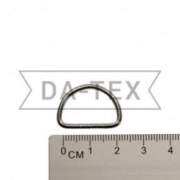 20 mm Metal semi ring nikel