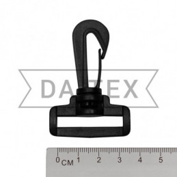 32 mm Plastic snap hook black