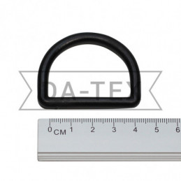 38 mm Plastic semi ring black