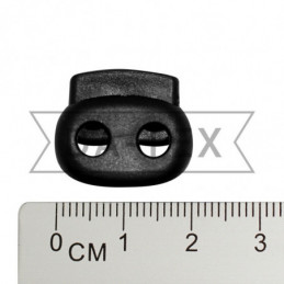 20 mm 2-holes oval stopper...