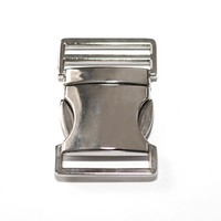 Metal side release buckle